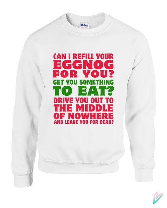 Christmas Vacation Movie Quote Sweater Crewneck Sweatshirt Hoodie Save the Neck for me Clark Gift xmas santa Turkey Knit Present Holiday CKIjd6