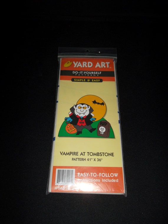 Yard art do it yourself patternsvampire at tombstone outdoor yard yard art do it yourself patternsvampire at tombstone outdoor yard decoration instructions 41 x 36 new from moderndayvintage on etsy studio solutioingenieria Images