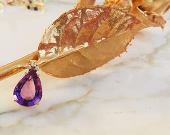 Purple Teardrop
