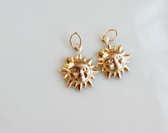 14K gold filled, sun charm, option of 1pc and 2pcs
