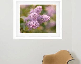 Framed floral print, frame photography, flower picture framed artwork, matted framed wall art, large wall decor framed ar, lilac picture