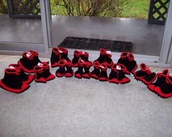 Hand Crochet Gumboot Slippers Sizes 10, 11 & 12