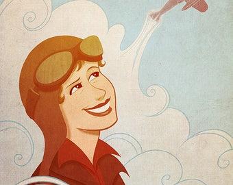 Amelia Earhart, 8x10