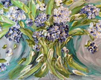 QUALITY OF LIFE, 33x21, White frame, Floral Impasto Painting, Item# 111