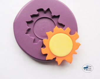 Sun Mold/Mould - Summer Solar System Mold - Silicone Molds - Polymer Clay Resin Fondant