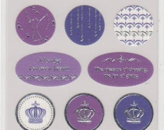 Cat, Moon, Crown and Constellation Stickers - For You - Reference A4243