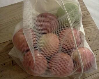 Produce Bags, Reusable Vegetable Bag, Farmers Market, Shopping Bag, Choose your size, Veggie Bag, Delicates Bag, Mesh Bag, Muslin Bag