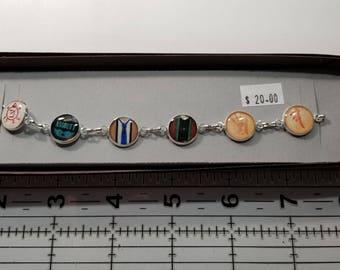 Supernatural Destiel (Dean Winchester and Castiel) Inspired Charm Bracelet