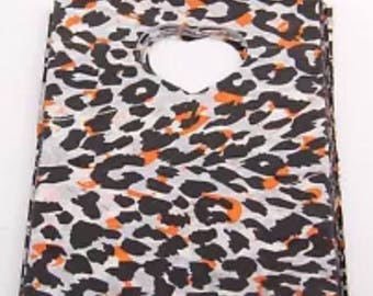 SET of 50 bags POUCHES plastic Leopard
