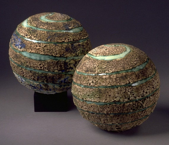 Items Similar To Ceramic Textured Planet Large Spheres