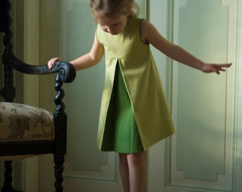 "Dress for girl with the double fold, Collection ""I feel green"""