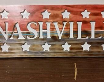 Patriotic Nashville sign