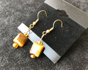 Brown Square Earrings