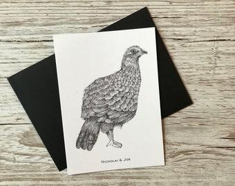 Game bird Notecard / Postcard