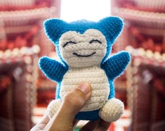 Snorlax from Pokemon Amigurumi Crochet Pattern