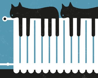 The two piano cats