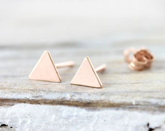 Small triangle earrings - gold filled earrings