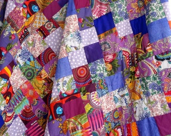 PATCHWORK - AKKA in cotton, purple and multicolor sold by the meter