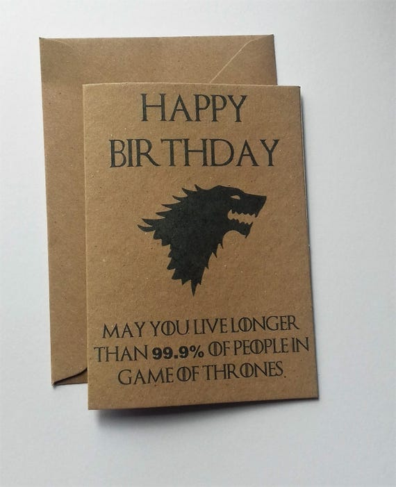 Game of Thrones Birthday card house stark