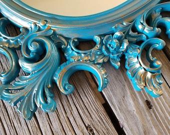 Vintage Syroco Mirror / Wall Mirror /  Ornate Mirror / Wall Hanging/ Wedding/ Victorian
