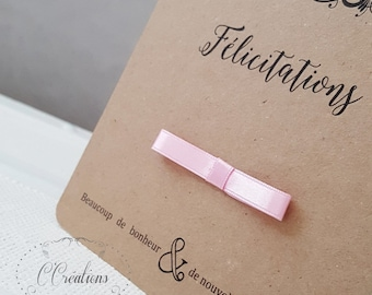 Wedding congratulations card or birth { Kraft }
