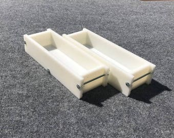 Lot of 2 HDPE Soap Loaf Making Mold 3 - 4 lb per mold CP Mp HP Oven Safe