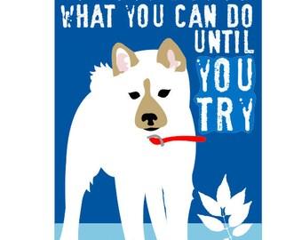 Classroom Art Childrens Wall Art Shiba Inu Wall Art for Kids Motivational Print