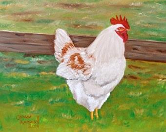 Chicken #2: Original Oil Painting