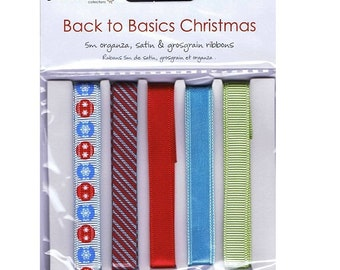 Dovecrafts Back To Basics Christmas Ribbons Modern -DCXRB02
