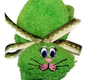 Bunny Ice Pack Embroidered Boo-boo Bunny Rabbit Lime Green