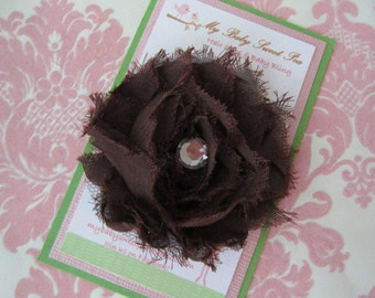 Girl hair clips - fall flower hair clips - girl barrettes