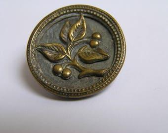 Antique picture button Cherry's