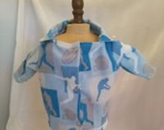 "AARON- 2 piece flannel pajama set for 18"" boy doll"
