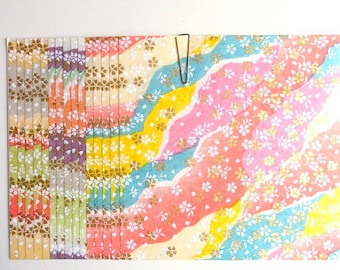 Japanese WASHI paper Origami YUZEN Chiyogami 15 sheets, 12x12cm (Y021)