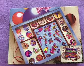 80s Vintage Lisa Frank Holiday Sticker Box 12 Sheets RARE