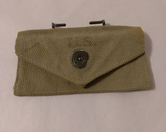 Vintage WWII 1942 Web Belt M-1924 Carlisle First Aid Pouch By Brauer  Bros Shoe Co.