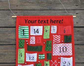 Fabric Advent Calendar - Personalized Advent Calendar, Custom Christmas Gift, Cloth Advent Calendar, Kid's Advent Calendars, Advent Calendar