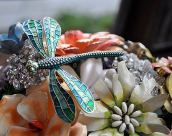 CUSTOM Vintage DRAGONFLY Accented Wedding Brooch Bouquet - to fit your style, budget & colors - plus lifetime guarantee