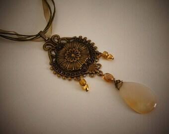 Necklace agate true romantic - Agatha