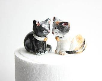 Cake Topper Cat Wedding - Cat wedding cake topper - Animal cake topper - Cat Birthday Topper - Cat wedding Cake topper