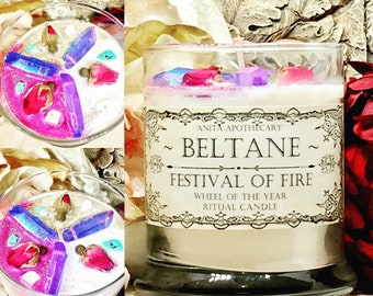 SALE! Beltane Ritual Candle~ Wheel of the year, pagan candle, witch spell candle, witchcraft candle, goddess candle, witchcraft oil, pagan h