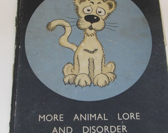 Vintage 1940s Children's Book - Hit or Myth by James Riddell - A Split-Page Funny Animal Riddle Picture Book