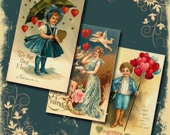 Vintage Valentine Downloadable Collage Sheet 5