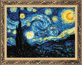 Starry Night - Cross Stitch Kit from RIOLIS Ref. no.:1088
