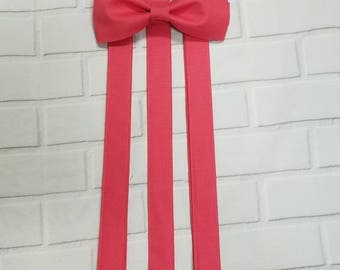Guava Suspender and Bow Tie Set Free Shipping Offer Color Match To David's Bridal Guava Sizes Newborn to Adult