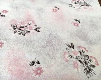 Single bed Vintage retro 100% cotton sheet purple green floral flower made in australia
