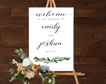 Wedding welcome sign, printable wedding welcome sign,