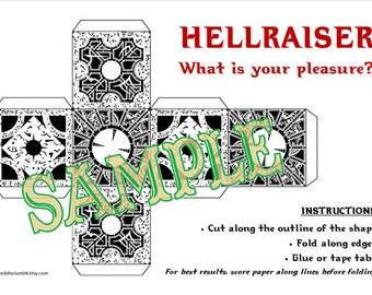 Fold your own papercraft Hellraiser puzzle box
