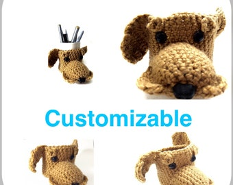Crochet Cup, cozy dog coffee cup, coffee cup sleeve, mug cozy, tea cup, mug sweater, tea mug dog, coffee mug dog, gold