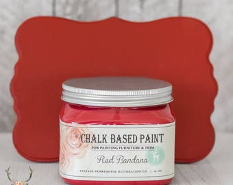 Vintage Storehouse Chalk Based Paint - Red Bandana